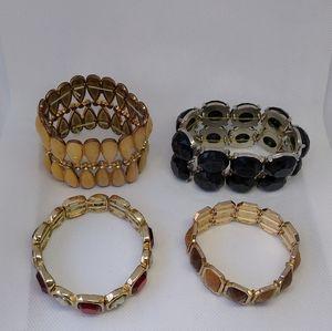 4-pc Stretch Fashion Bracelets